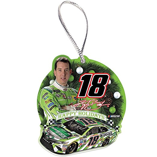 Kyle Busch #18 NASCAR Hanging Christmas Tree Ornament