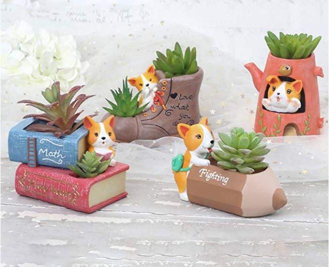 Corgi Succulent Pots